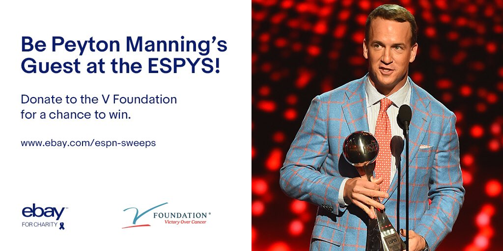 ESPN offers chance to be Peyton Manning's ESPYS guest to donors