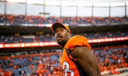 DENVER, CO - OCTOBER 1: Outside linebacker Von Miller #58 of the Denver Broncos walks off the field after a 16-10 win over the Oakland Raiders at Sports Authority Field at Mile High on October 1, 2017 in Denver, Colorado. (Photo by Justin Edmonds/Getty Images)
