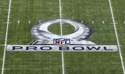 A general view of the Pro Bowl Logo on the field at Camping World Stadium before the start of 2018 Pro Bowl Game between the AFC Team against the NFC Team on January 28, 2018 in Orlando, Florida. (Photo by Don Juan Moore/Getty Images)