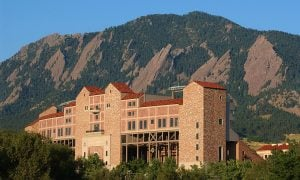 Exterior view of Folsom Field on the University of Colorado Buffaloes campus in Boulder, Colorado. (Photo by Casey A. Cass/University of Colorado/Collegiate Images via Getty Images)