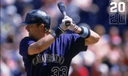 Larry Walker #33 of the Colorado Rockies at bat during the game against the Cincinnati Reds at Wrigley Field in Cincinnati, Ohio. The Rockies defeated the Reds 4-2.Mandatory Credit: Mark Lyons /Allsport