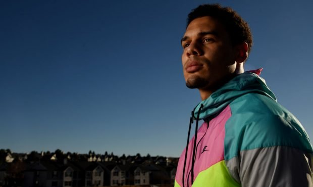 LONE TREE, CO - JANUARY 15 : Denver Broncos Safety Justin Simmons poses for a portrait at Sweet Wat...