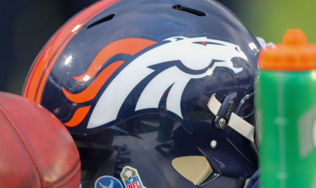 ORCHARD PARK, NY - NOVEMBER 24: A general view of a Denver Broncos helmet during a game against the...